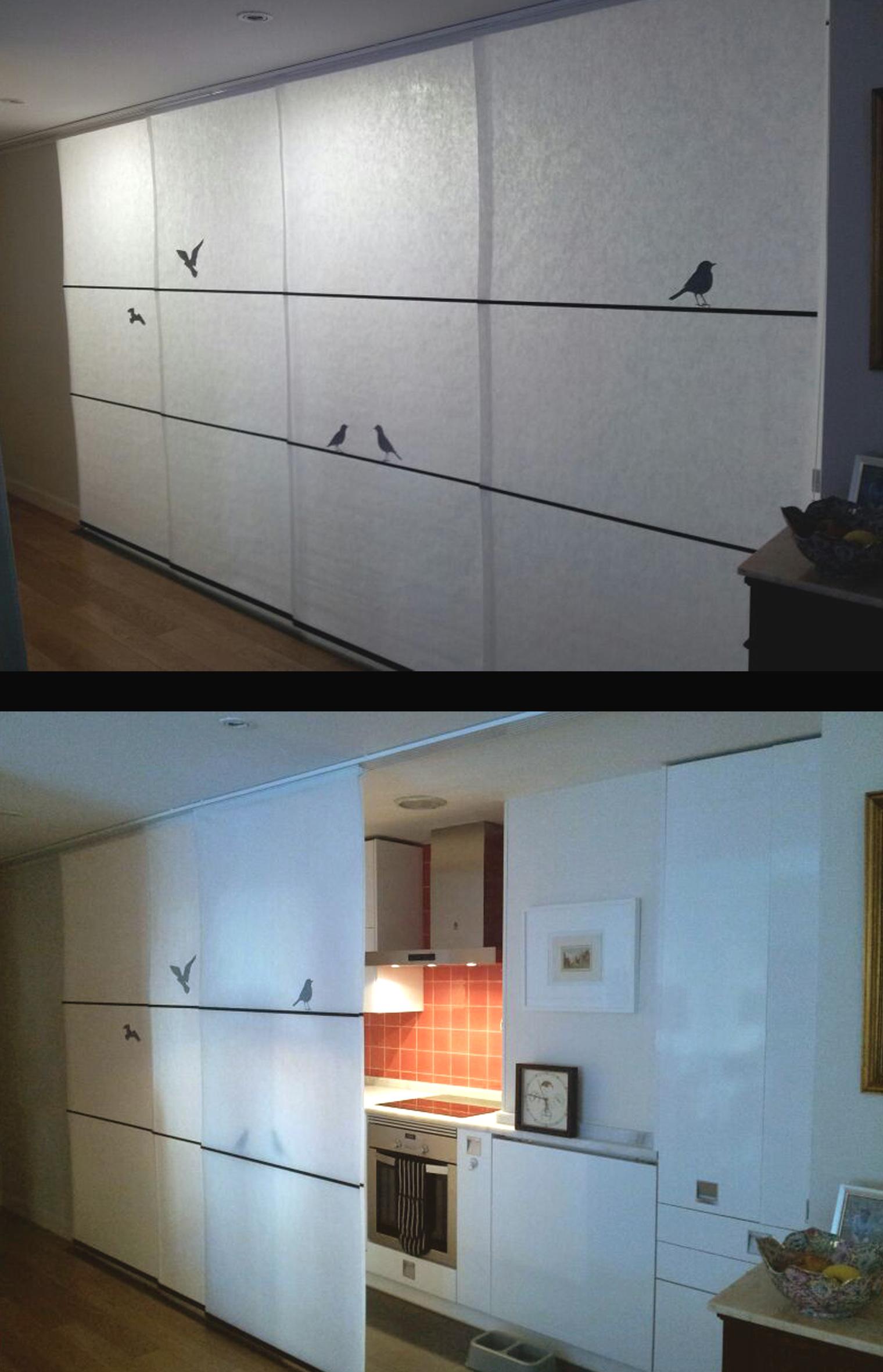 Paneles para separar ambientes separando espacios en un loft imagen erin u ben r delicado - Paneles para separar espacios ...